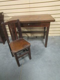 Rustic Child's Desk and Chair