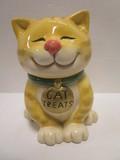 Ceramic Cat Treat Lidded Jar