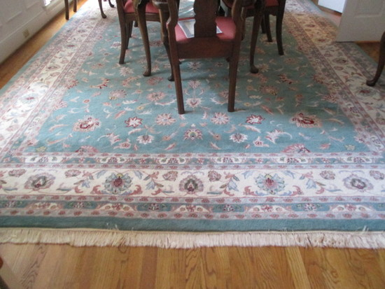 Kashan 100% Wool Rug Made in India with COA and Felt Under Pad