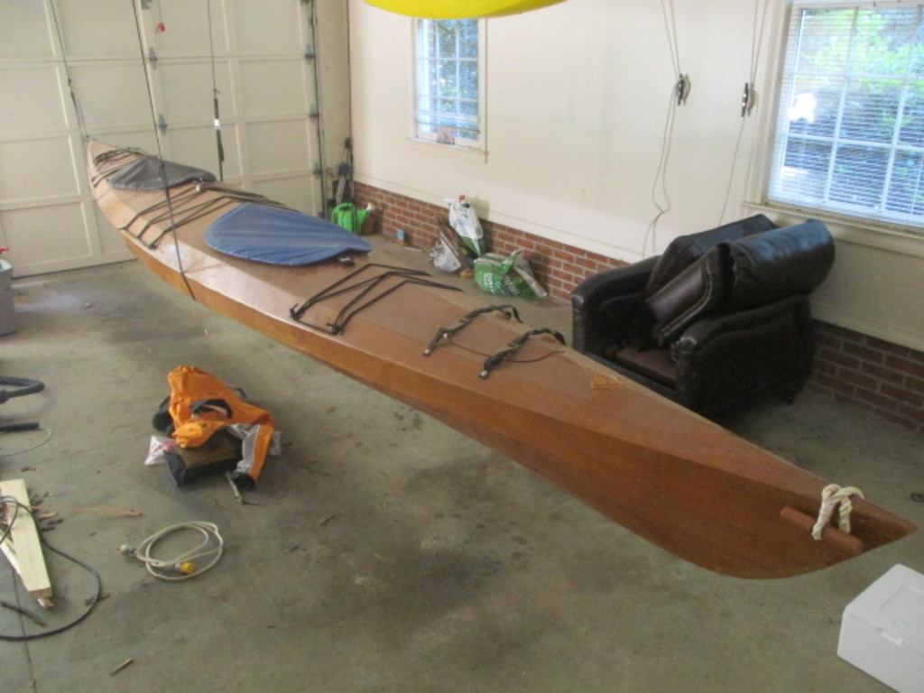 2 Person Custom Built Wood 20' Kayak with Sealine Smart Track Control System