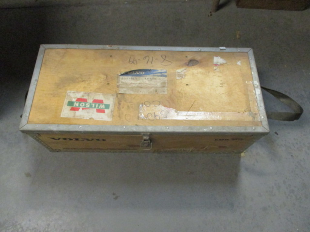Lot: Volvo Wood Crate Filled with Fishing Sinker Weights and