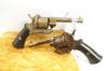 Pair of Antique Belgian Lefaucheux Folding Trigger Pinfire Revolvers