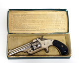 Personalized S&W New Model 1 1/2 Spur Trigger .32 Centerfire Antique Revolver in Original Box