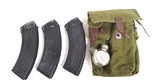 Romanian AK47 Magazine Pouch with Oil Bottle & 3 Magazines