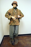 Suited Mannequin - German WWII MP40 Luftwaffe Soldier in SS Camo 44 Dot Smock w/ M40 Helmet