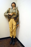 Suited Mannequin - German WWII Afrika Korps Luftwaffe Artilleryman with Paratrooper Helmet