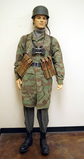 "Suited Mannequin - German WWII Paratrooper ""Fallschirmjager"" Splinter Camouflage uniform w/ Helmet"