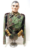 Suited Mannequin - German WWII Untersturmführer in Blurred Edge Camo Panzer Wrap