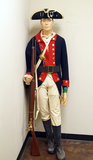 Suited Mannequin - Reenactment Continental Army Uniform