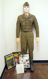 WOW! Named Suited Mannequin Grouping- Dress Uniform of S/SGT. Edwin Segars 17th Airborne, 513 PIR