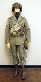 Suited Mannequin - US 82nd Airborne Division Combat Uniform w/ Rear Seam M1 Helmet