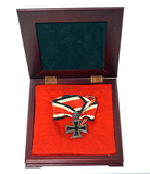 German 1939 Knight's Cross of the Iron Cross w/ Silver Oak Leaves & Neck Ribbon in Presentation Case
