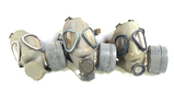3 M61 Finnish Gas Masks with Filters