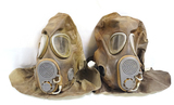 Pair of 1980s Czech M10M Gas Masks with Hoods