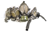 1 ACME Full-Vision No. 6 Gas Mask with Filter and 3 MSA Mining Masks Patented Nov. 1 1921