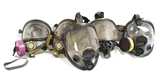 5 Various North & Willson Gas Masks
