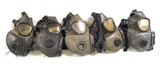 3 US M17 and 2 M17A1 & A2 Gas Masks