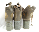 3 Original WWII M1A2-1-1 Gas Masks