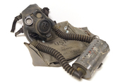 One of the Rarest WWII M1-1-5 Optical Gas Mask w/ Tank Filter Canister