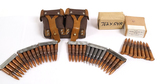 Aprox. 68rds. Of 7.62x54r - Clipped Ammunition in Double Ammo Pouch Holder