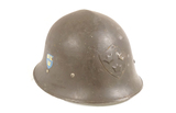 Swedish WWII M21-18 High Top Double Decal Steel Helmet