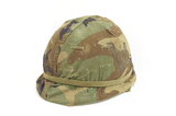 M1 Helmet - Rear Seam/Swivel Bale with M29 Liner & Camo Cover with band