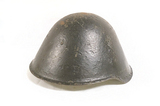 RARE Collector Piece - Experimental Short Lived 6-Rivet Variant East German M56/66 Helmet w/ Liner
