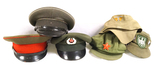 Soviet Union Russian Caps, East German Cap, M43 Cap Eagle/Cockade Triangle Cap, & More