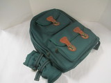 Like New Brookstone Picnic Set in Green Canvas Backpack