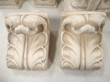 Pair of Plaster Fluted Brackets/Display Shelves