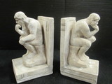 Pair of Plaster Thinking Man Bookends