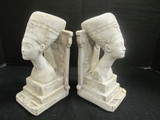 Pair of Plaster Nefertiti Bust Bookends