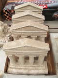 Four Plaster Greek Parthenon Wall Plaques