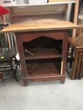 Vintage 2 Shelf Open Wood Cabinet