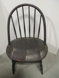 Dark Finish Wood Windsor Style Chair