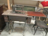 Antique Wheeler & Wilson Treadle Sewing Machine in Cabinet
