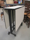 Metal Frame Gateleg Table with Laminate Top