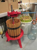 Ratchet Fruit/Wine Press Machine #25 with Hardwood Basket