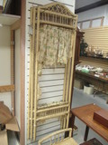 Vintage Wicker Folding Screen Panels