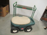 Step 2 Rolling Garden Cart and Metal Garden Kneeler/Seat