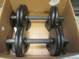 Pair of Dumbbells with (4)5lb Weights and (4)2 1/2lb Weights