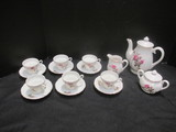 Moss Rose Demitasse Set