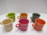 Six Pastel Color Fiesta Mugs