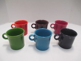 Six Dark Color Fiesta Mugs