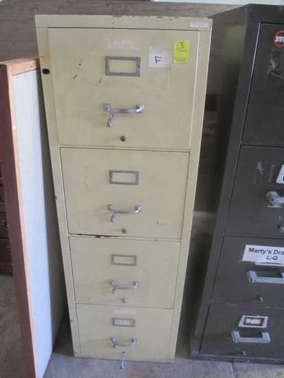 Fire Proof 4 Drawer File Cabinet (Crème Color)