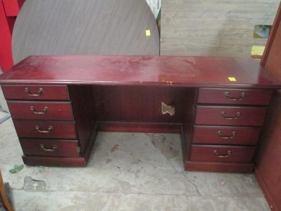 6 Drawer Knee Hole Desk  6'