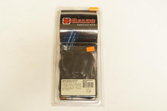NIB Galco Gunleather - SPD158B - Speed Paddle Holster - Revolver