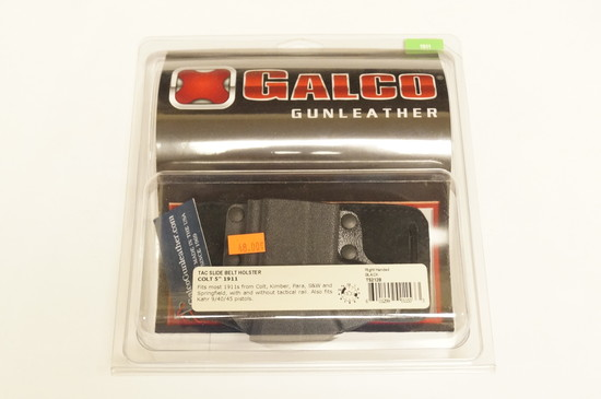 """NIB Galco Gunleather - TS212B - Tac Slide Belt Holster - Colt 5"""" 1911 and others (see pics)"""