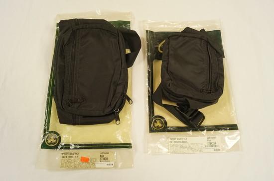 NIB Galco Gunleather - (2) Escort Waist Pack Holsters - Left Handed - ETBK3M/ETBK35A - See Pics