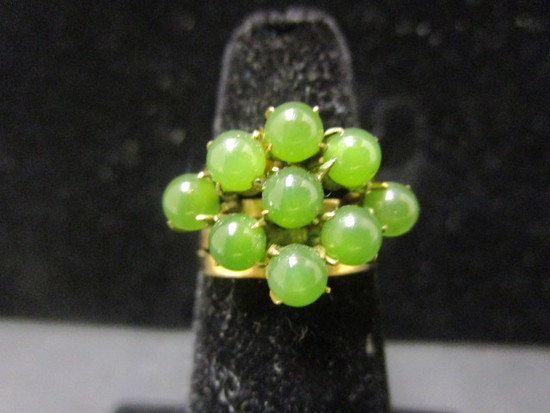 14k Gold Jade Ring- Size 5